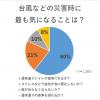 【IBD+リサーチ】台風などの災害時に、最も気になることは?